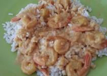 Curry de crevettes – version crème fleurette (Sihnoh)