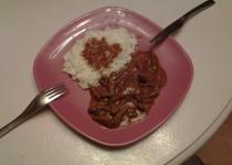Boeuf au saté et riz blanc (Candy)