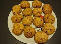 Cookies salés : tomates séchées, chorizo et parmesan (ChrysB)