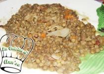 Lentilles aux poireaux, carottes et lard (AnnSo Cuisine)