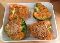 Poivrons farcis aux légumes et quinoa boulgour (Dani)