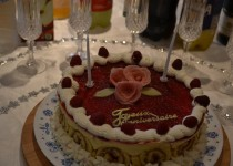 Bavarois vanille/framboise du meilleur pâtissier (Debrito)