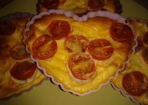 Clafoutis aux tomates cerises et mozzarella (SandraC)