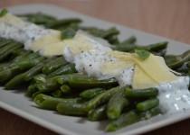 Salade de haricots verts et sa sauce au fromage blanc/citron/basilic (MaëvaB)