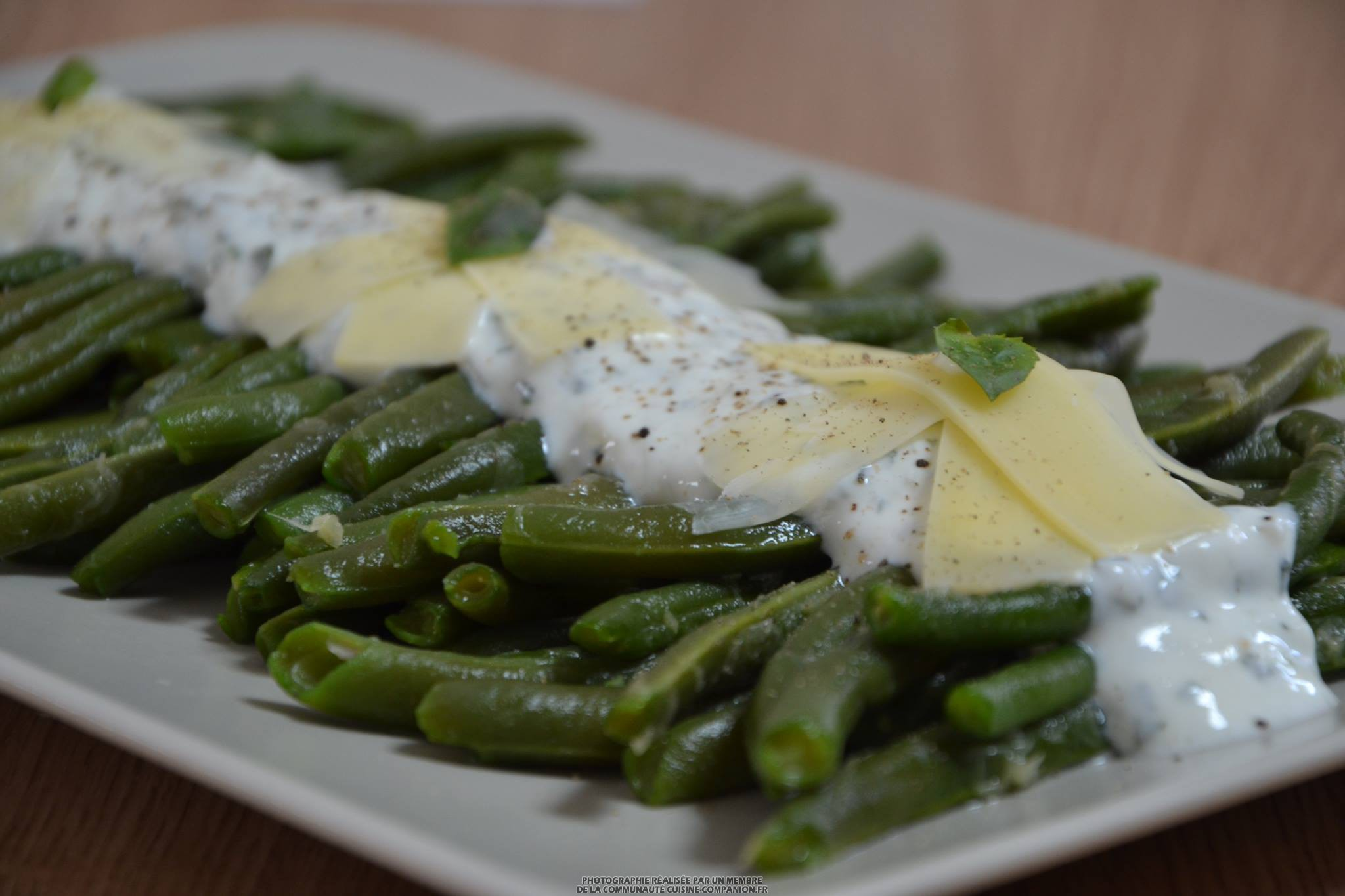 salade de haricots verts et sa sauce au fromage blanc citron basilic ma vab recette cuisine. Black Bedroom Furniture Sets. Home Design Ideas