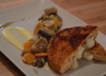 Cordons bleus de poulet/saté/chèvre (MaëvaB)