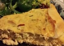 Tarte au St Morêt, poivron et thon (Catoche)