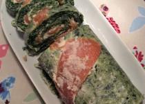 Roulé aux épinards et saumon fumé (Llalla)
